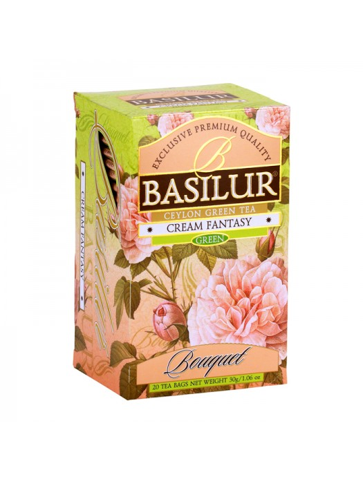 "Bouquet - ""Cream Fantasy"" Strawberry & Vanilla Green Tea (Sachets)"
