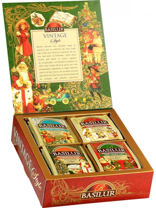 Vintage Style Assorted Black And Green Tea (40 sachets)