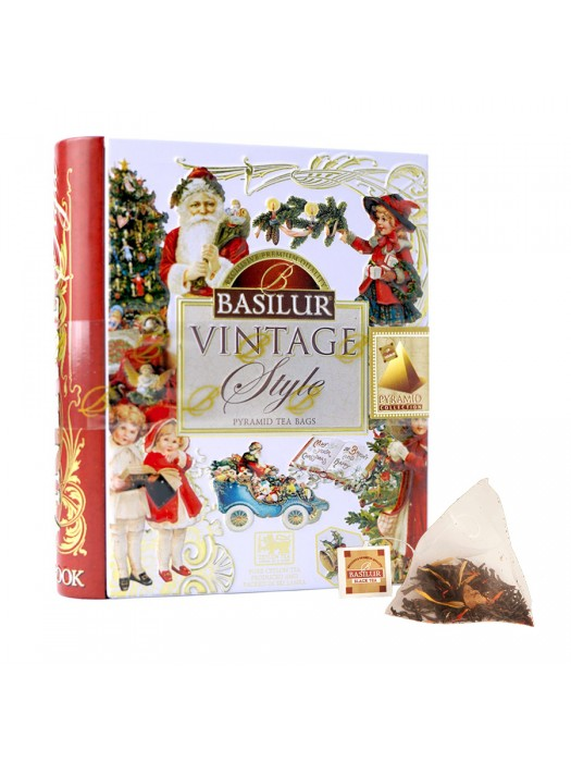 "Vintage Style - ""Miniature Winter Holidays"" (Pyramid Tea Bags)"