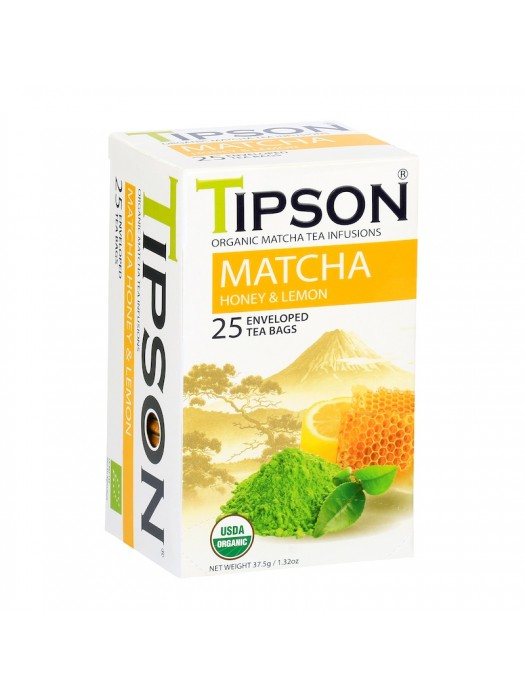 Tipson Organic Matcha, Honey & Lemon (Tea Bags)